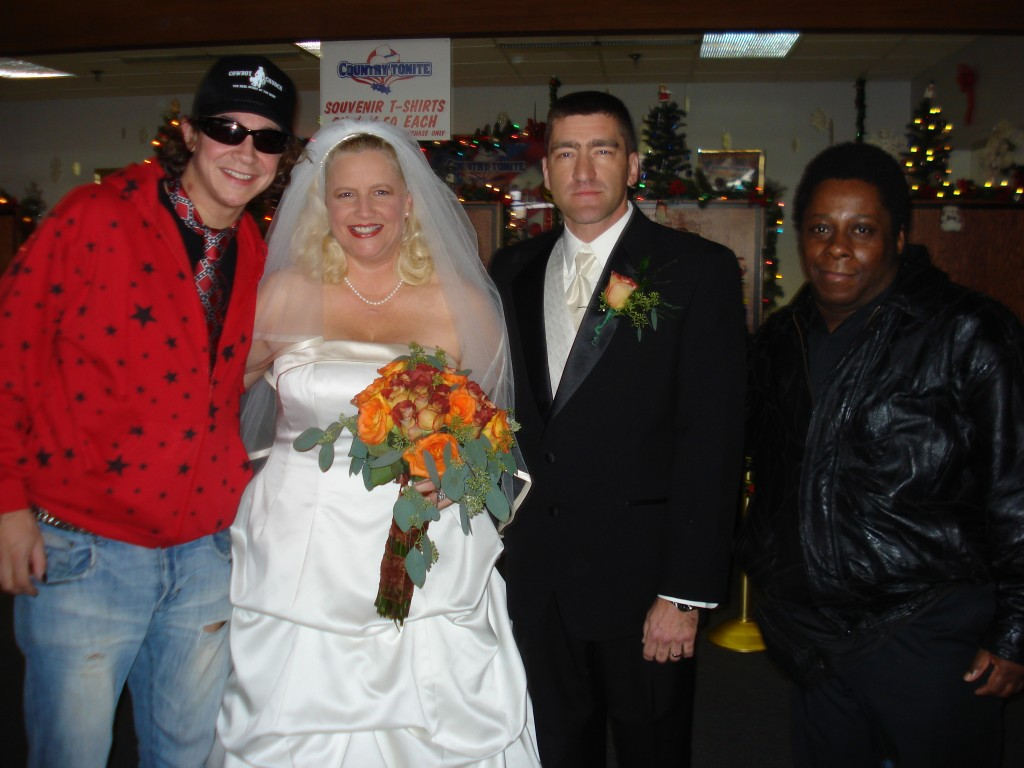 Me and Rodney and the lucky couple!
